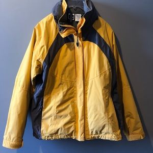 North Face Yellow & Gray Women's Winter Ski Jacket